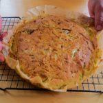Заливной пирог с капустой и овсянкой