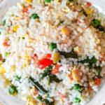 Самый простой рецепт риса с овощами и яйцом